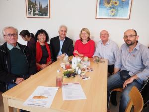 Ehrenbürger Johann Leitner, GGR Michaela Postl, Bgm. Leopold Nebel, LAbg. Karin Scheele, GGR Gerhard Stoiber und GR Max Brandstätter
